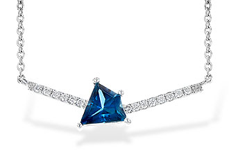 E235-79920: NECK .87 LONDON BLUE TOPAZ .95 TGW